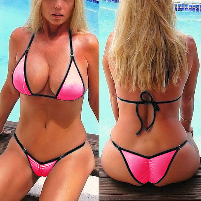 806db7347d Sexy Cheeky Scrunch Butt Bikini 2018 New Women s Beach Swimsuit String  Bikinis Set Women Vintage Swimwear Female Retro Swimsuit