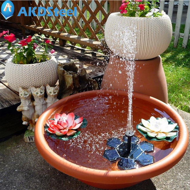 Akdsteel Mini Solar Ed Fountain Pump Water Floating Pumps For Garden Pool Outdoor Decoration