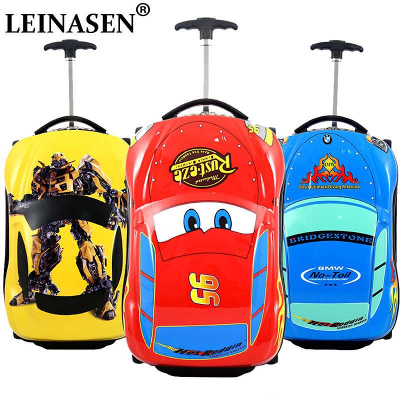 3D Детский чемодан, автомобильный Дорожный чемодан, детский Дорожный чемодан на колесиках для мальчиков, чемодан с колесами для детей, чемодан на колесиках