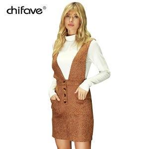 25220ea4c4f chifave Women Printed Tank dress 2018 Autumn winter Sexy Leopard Printed Plus  Sizes Dress Female vintage Pockets wrap Tank dress
