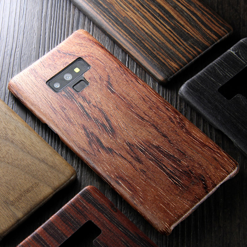 walnut Enony Wood Rosewood MAHOGANY Wooden Back Case Cover For Samsung Galaxy S8 S8+ Note 8 Note 9 Note 10+-in Fitted Cases from Cellphones & Telecommunications