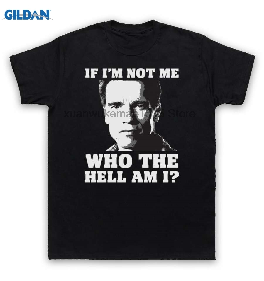 GILDAN 100% Cotton O-neck printed T-shirt Total Recall T Shirt If Im Not Me Who The Hell Am I