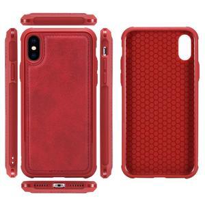 Image 5 - עבור iPhone X עור מקרה יוקרה 2 ב 1 נתיק Flip מגנטי ארנק טלפון אביזרי כיסוי מקרה עבור iPhone XR XS 7 8 6 בתוספת