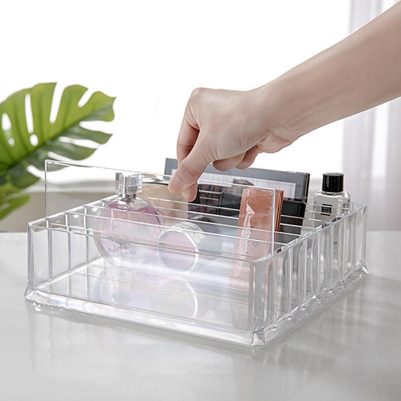 PS Makeup Cosmetic Storage Box CC Cream Storage Box Acrylic Vanity Cabinet Powder Display Shelf Makeup Organizer Cosmetic Holder