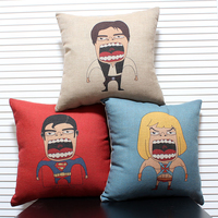 Cartoon Cushion Cover American Super Hero Style Superman Batman Spiderman Sofa Pillow Covers Kids Room Decoration