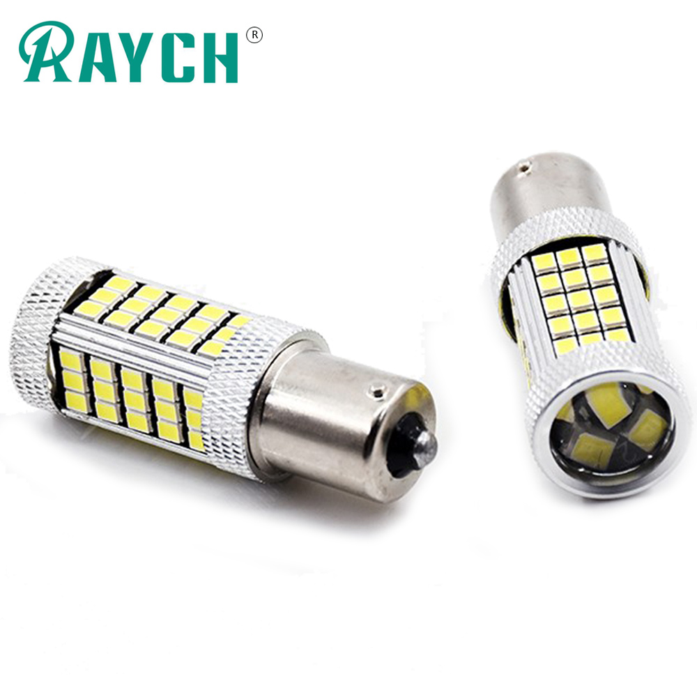 2x 1156 BA15S 66SMD P21W LED R5W Bulbs Car Driving Turn Signal Lights Backup Lamp Reverse Parking 6000K White