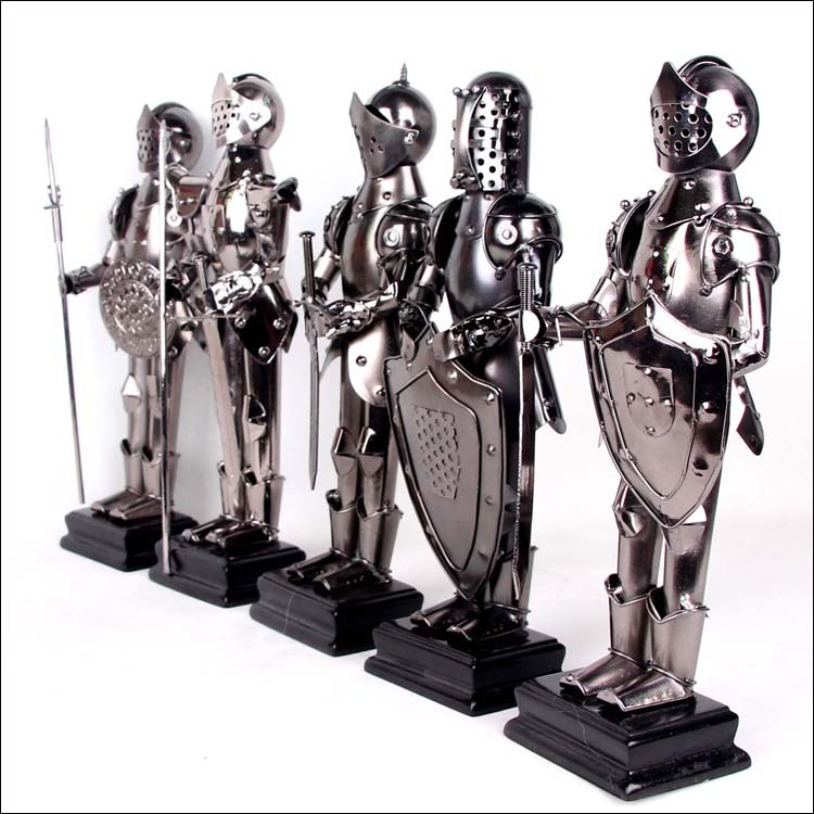 27cm Height Metal Ancient Greek/Roman Warrior Armor Model Creative Home Decration Western Style Aircraft Gift