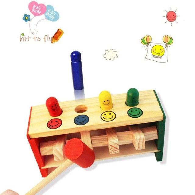 Hit to fly juguetes de madera Montessori juguete educativo para bebé aprendizaje mano-ojo coordinación regalo de madera cumpleaños gratis envío
