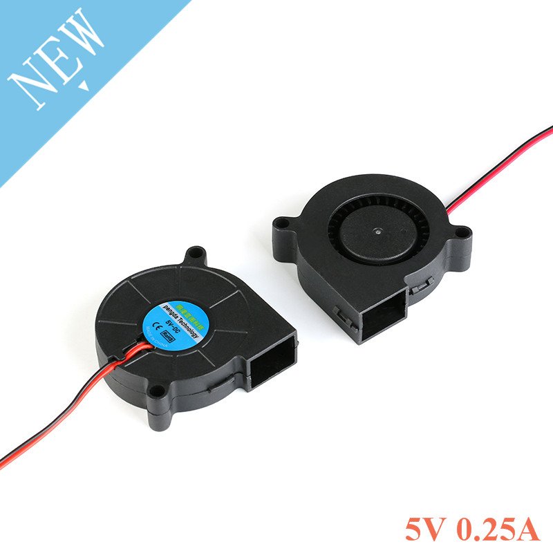 1pc 50mm Blower Fan 5v Sleeve DC 5 Volt 2Pins Heat Sink Blowing Radiator Cooling Brushless Cooler