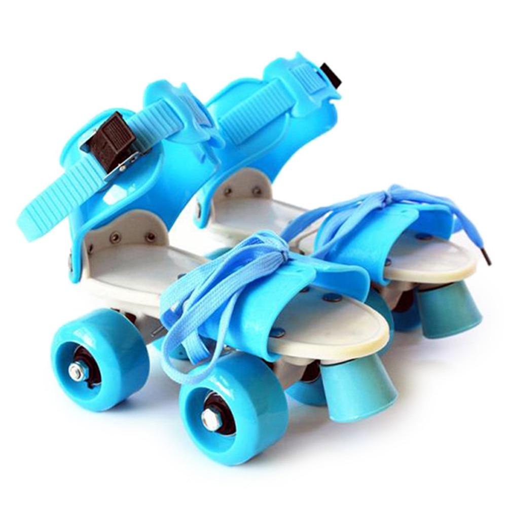 Children Durable Skate Shoes Roller Skates Adjustable Length Four Wheels Boy Girl Kids Skating Shoes For 3-10 Years Old Children