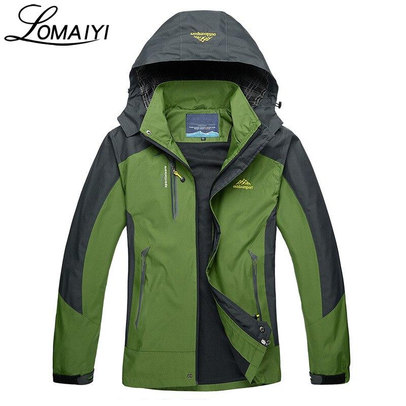 LOMAIYI Vodootporna Muška jakna Proljeće Jesen Zima Fleece Podstava - Muška odjeća - Foto 6