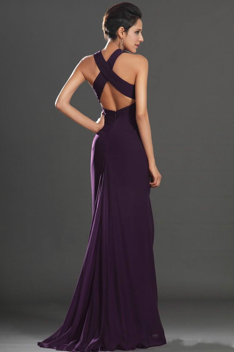 2017 sexy deep v neck long chiffon bridesmaid dresses dark purple 2017 sexy deep v neck long chiffon bridesmaid dresses dark purple backless a line flowy wedding party dress long prom dresses in prom dresses from weddings ombrellifo Images