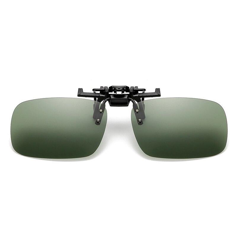 Рыбалка использовать солнцезащитные очки клип для очков на Стиль Солнцезащитные очки UV400 поляризационные Рыбалка верховой езды и Пешие прогулки Очки День/ночное видение очки - Цвет: Dark green