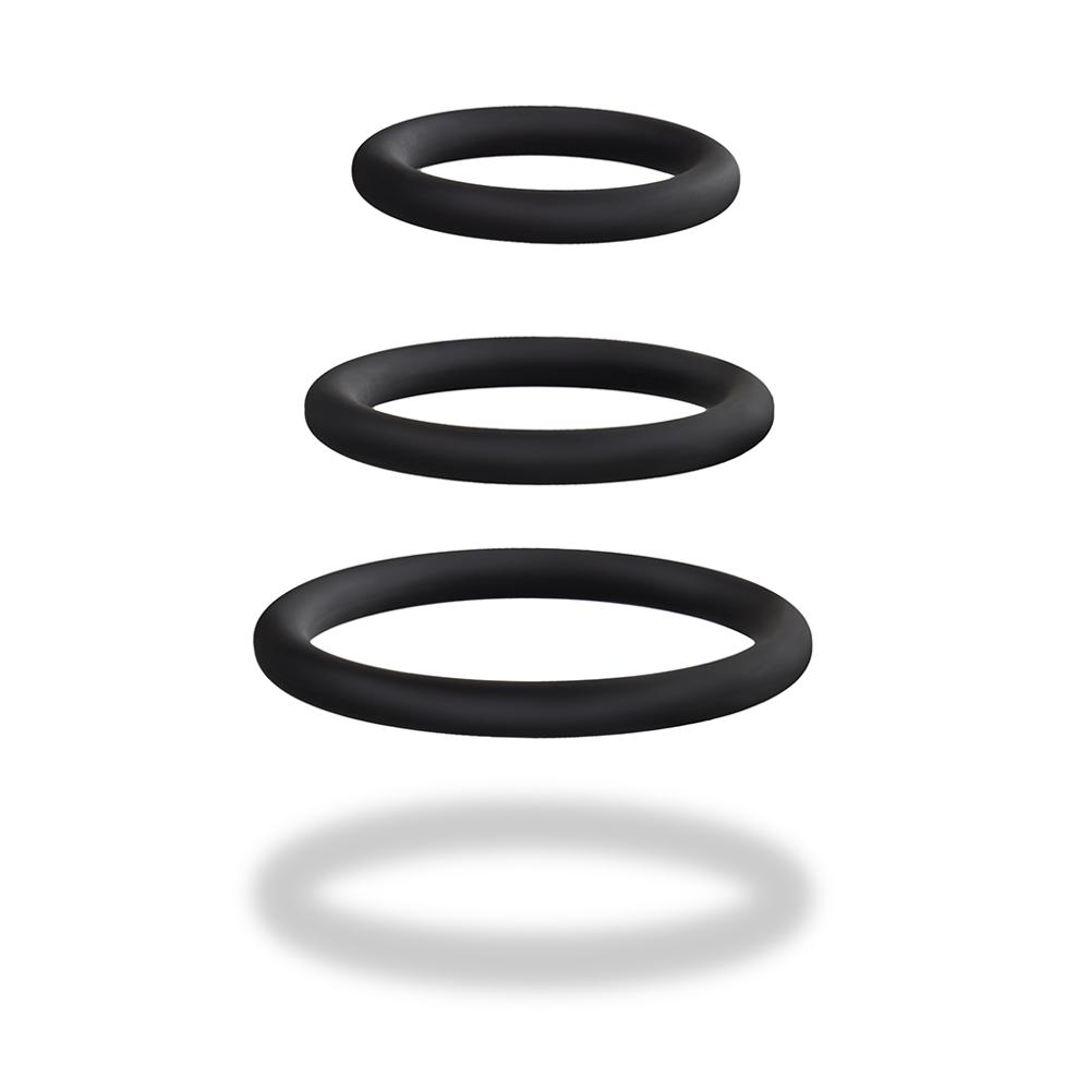 Luvkis 3Pcs Sex Products For Men Time Delay Penis Ring Flexible Silicone Cock Rings Male Foreskin