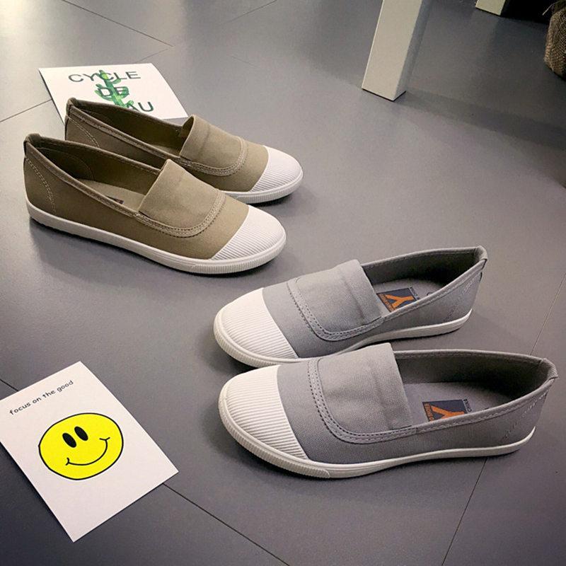 Vår / höst nya pedal lata skor Ärtor skor andas små vita skor - Damskor - Foto 3