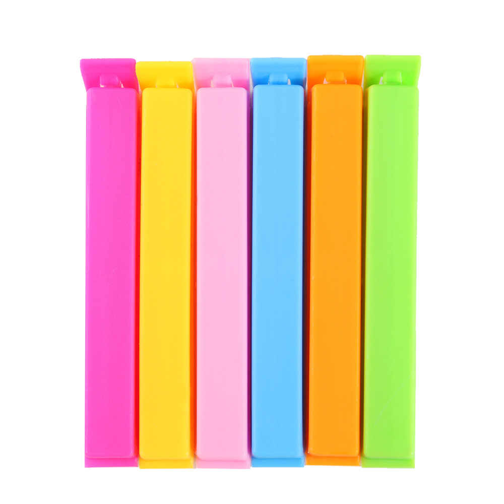10/20 Pcs Fashion Colorful Kitchen Storage Food Snack Seal Sealing Bag Clips Sealer Reusable Clamp Plastic Tool 11*1.5*1.2CM