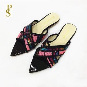 Image 2 - الصيف الشقق أحذية نسائية Ms النعال سيدة الأحذية