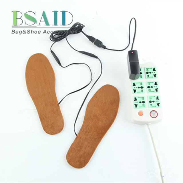 fbbf51f5601 BSAID USB Electric Heated Insoles For Shoes Boots Rechargeable Warm Fur  Shoes Insert Unisex Washable Winter Thermal Pad DIY Cut-in Insoles from  Shoes ...
