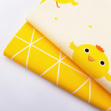 Cute Chick Printing Twill Cotton Patchwork Fabric Handmade DIY Sewing Quilting Textile Cloth Material