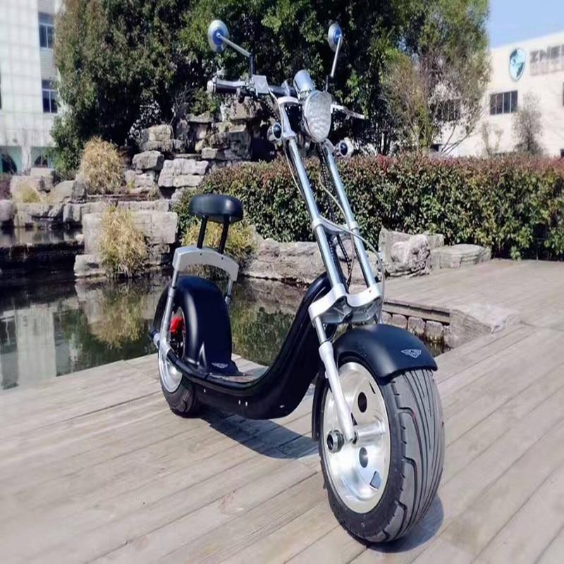 Graisse roue citycoco 1200 w scooter électrique kick scooter 200 kg charge deux roues scooter électrique moto - 6