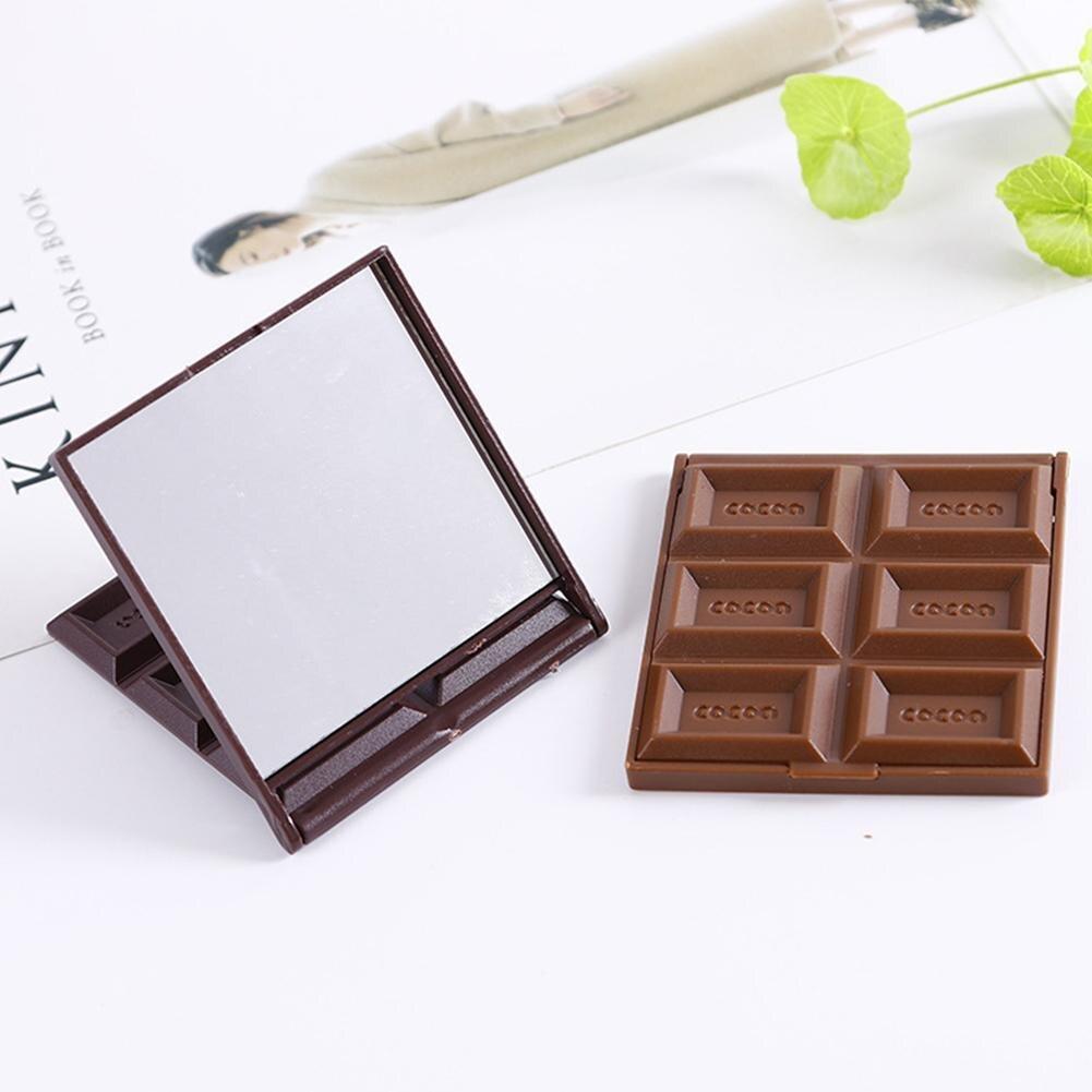 Spiegel Mini Nette Spiegel Kreative Schokolade Cookie Kekse Kompakte Make-up Werkzeug Falten Portable Spiegel Mit Kamm
