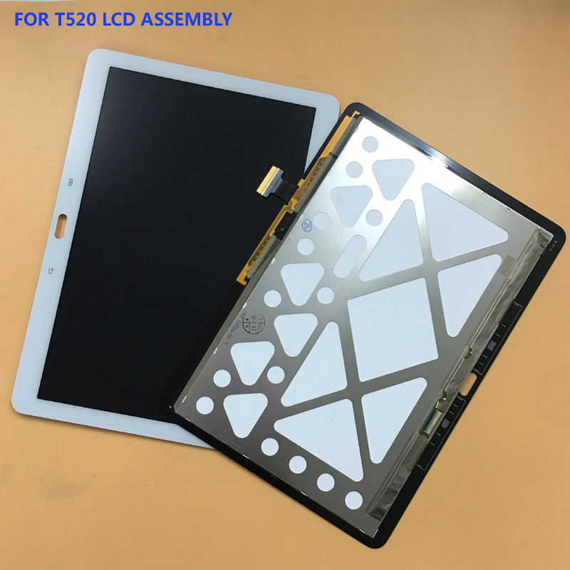 White For Samsung Galaxy Tab Pro 10.1 T520 T525 SM-T520 SM-T525 Touch Screen Sensor Digitizer Glass + LCD Display Panel Aesembly for samsung galaxy tab pro 10 1 sm t520 t520 sm t525 t525 leather case 10 inch universal tablet cover center film pen kf492a