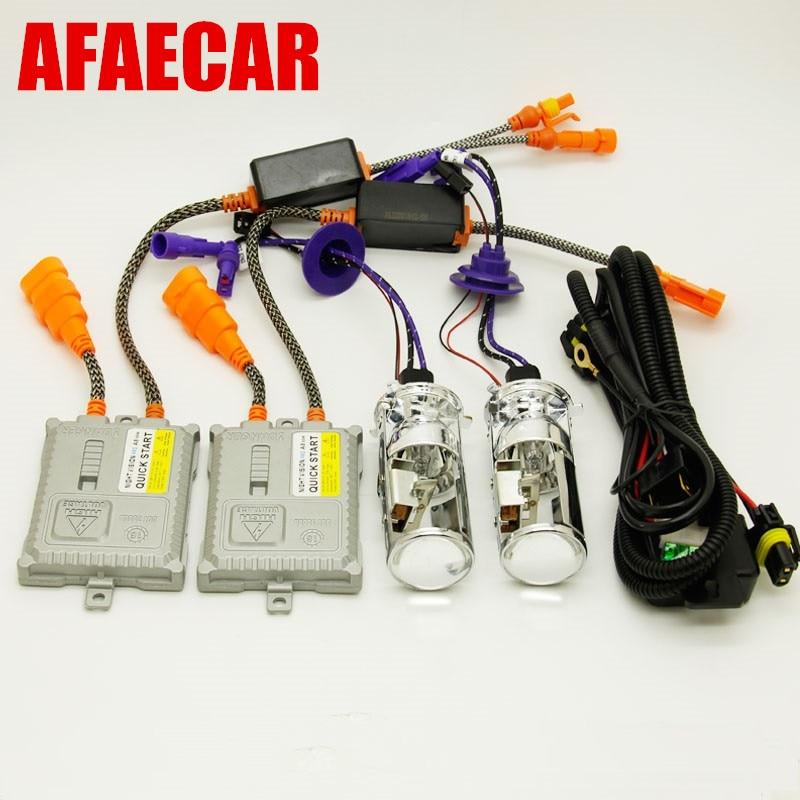 1 set Car XENON H4 Headlight Bulbs HID MINI H4 Hi Lo Beam xenon light conversion