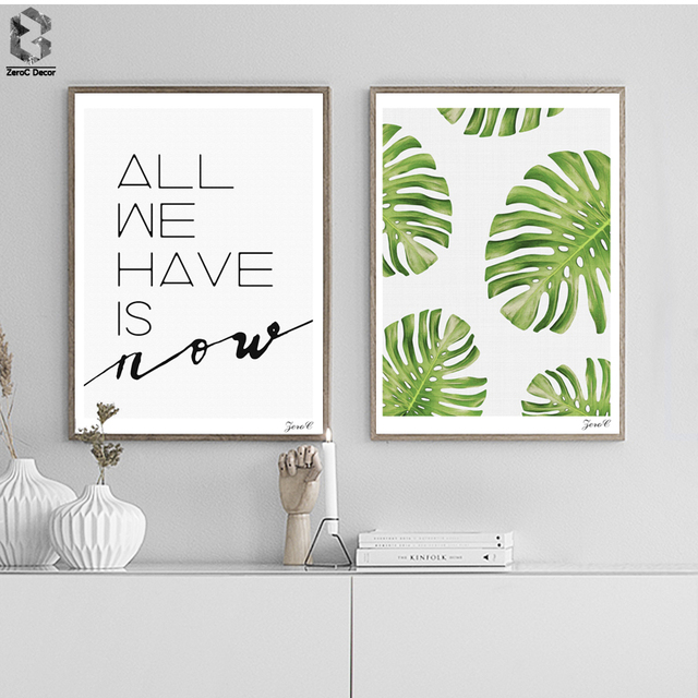 Nordic Fresh Wall Art Posters and Prints Palm Leaves Canvas ...