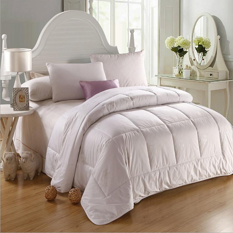 new comforter wool quilt winter summer sheep fleence quilt bedding filler filling queen king. Black Bedroom Furniture Sets. Home Design Ideas