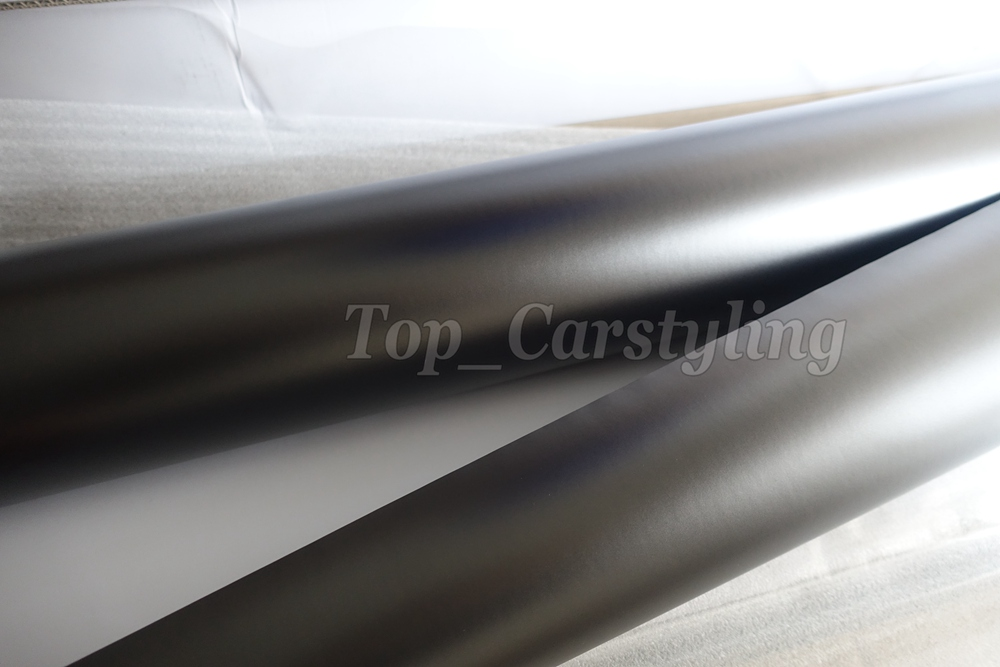 Gray apa 3M Anthracite satin chrome gunmetal dark Grey metallic car wrapping Film (1)