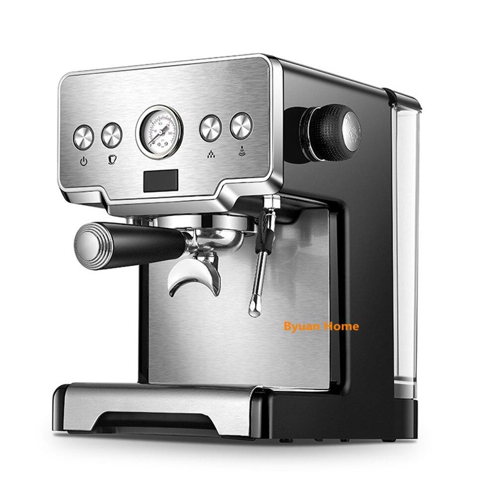 Najnowszy ze stali nierdzewnej 15 bar gospodarstwa domowego ekspres do kawy z spieniacz do mleka cappuccino ekspres do kawy espresso półautomatyczny ekspres do kawy w Ekspresy do kawy od AGD na  Grupa 1