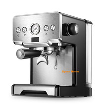 Newest stainless steel 15 bar household coffee machine with milk frother cappuccino espresso coffee semi automatic coffee maker