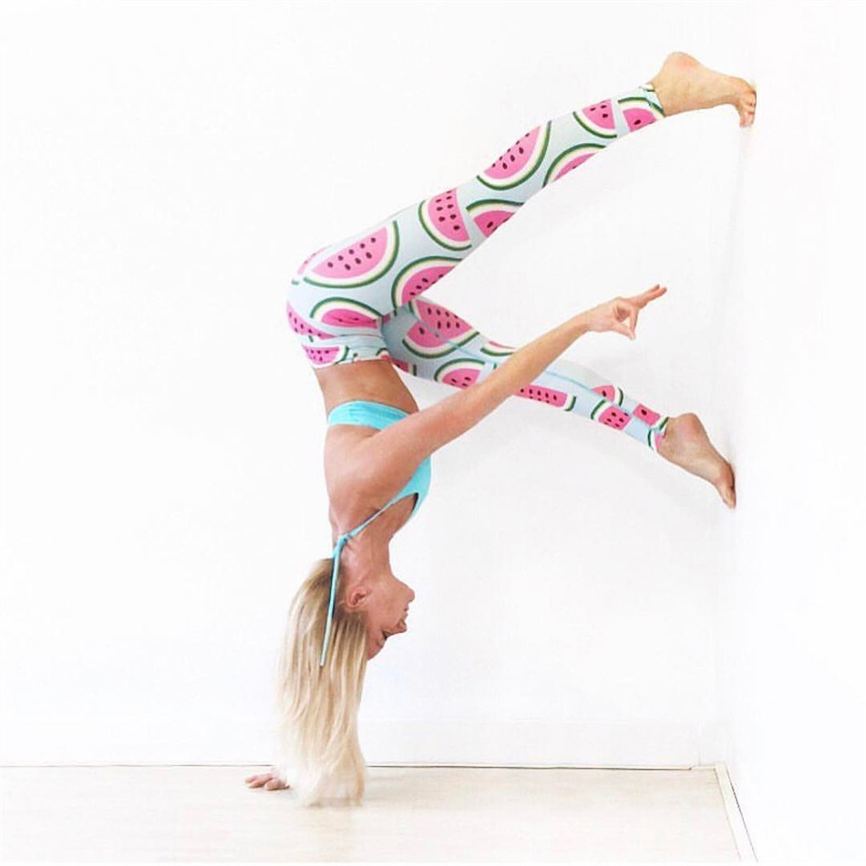 6b75f781ee09d Le NaKai Fun Summer Print Watermelon Art Yoga Leggings for Women Thicker No  See Through Workout Yoga pants Gym tights-in Yoga Pants from Sports ...