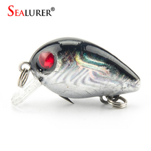Sealurer Brand 1pcs 1.5g 3cm Topwater Crazy Wobbler Japan Mini Fly Fishing Crankbait Minnow Lure Floating Hard Baits 1pcs/lot