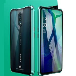 Image 4 - Luxury Magnetic Metal Bumper Case For OPPO Reno F11 V15 Pro R17 Cover Double Sided Glass Full Body Case For OPPO Reno 10X Zoom