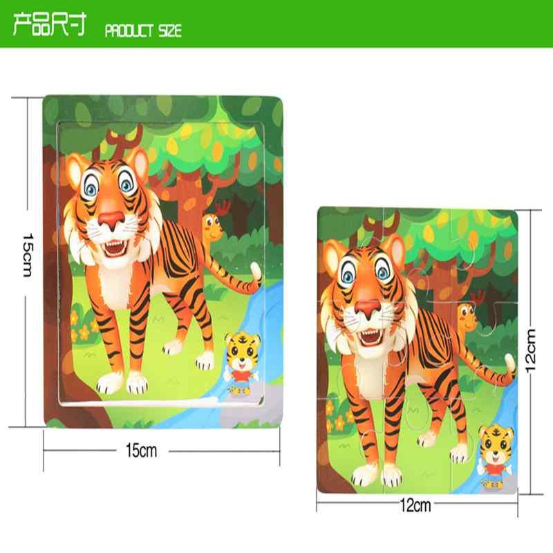 12 piezas de madera 3D Animal Puzzle signos del zodiaco chino - Juegos y rompecabezas - foto 6