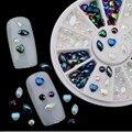 Promoções! Cristal AB 3D Nail Art Rhinestones da forma do coração DIY dicas de decoração para unhas decoração frete grátis