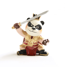 E-FOUR Chinese History Cartoon Doll Traditional Ornament Car Interior Decoration Styling Hand Made Panda Gift for Children Girls