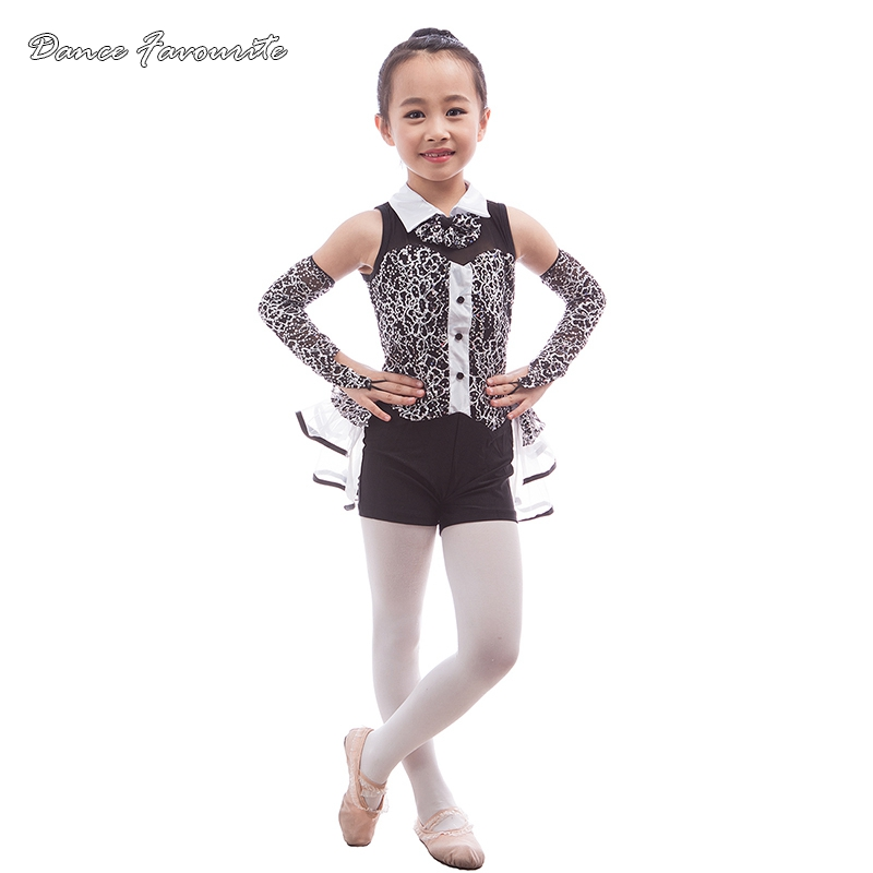 Sequin lace top bodice girl jazz/tap dance costume, women stage performance dance costume ballet dress dancewear