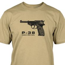 Walther P38 T-Shirt Harajuku Tops t shirt Fashion Classic Unique free shipping High Quality Casual Printing