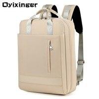 Large Capacity Men Waterproof Nylon Bag Women 15.6 Inch Laptop Backpack With Charging Port School Bags For Teenage Girl Boy 2019