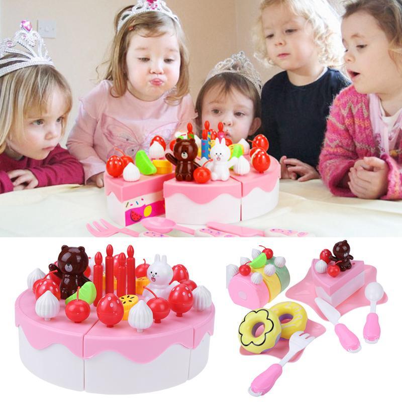 63 teile/satz Küche Spielzeug Kinder Kinder Pretend Play Schneiden ...