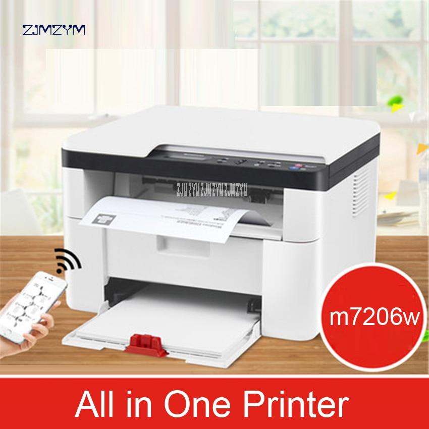 Macchina da Stampa Laser senza fili Copia Scansione Home Office Tripla di Business Multi funzione M7206W Stampante All in One 600*600dpi