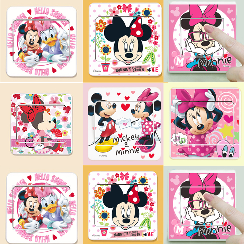Mickey Minnie Switch Stickers Bedroom Living Room Decor Mural Poster Children Birthday Gift