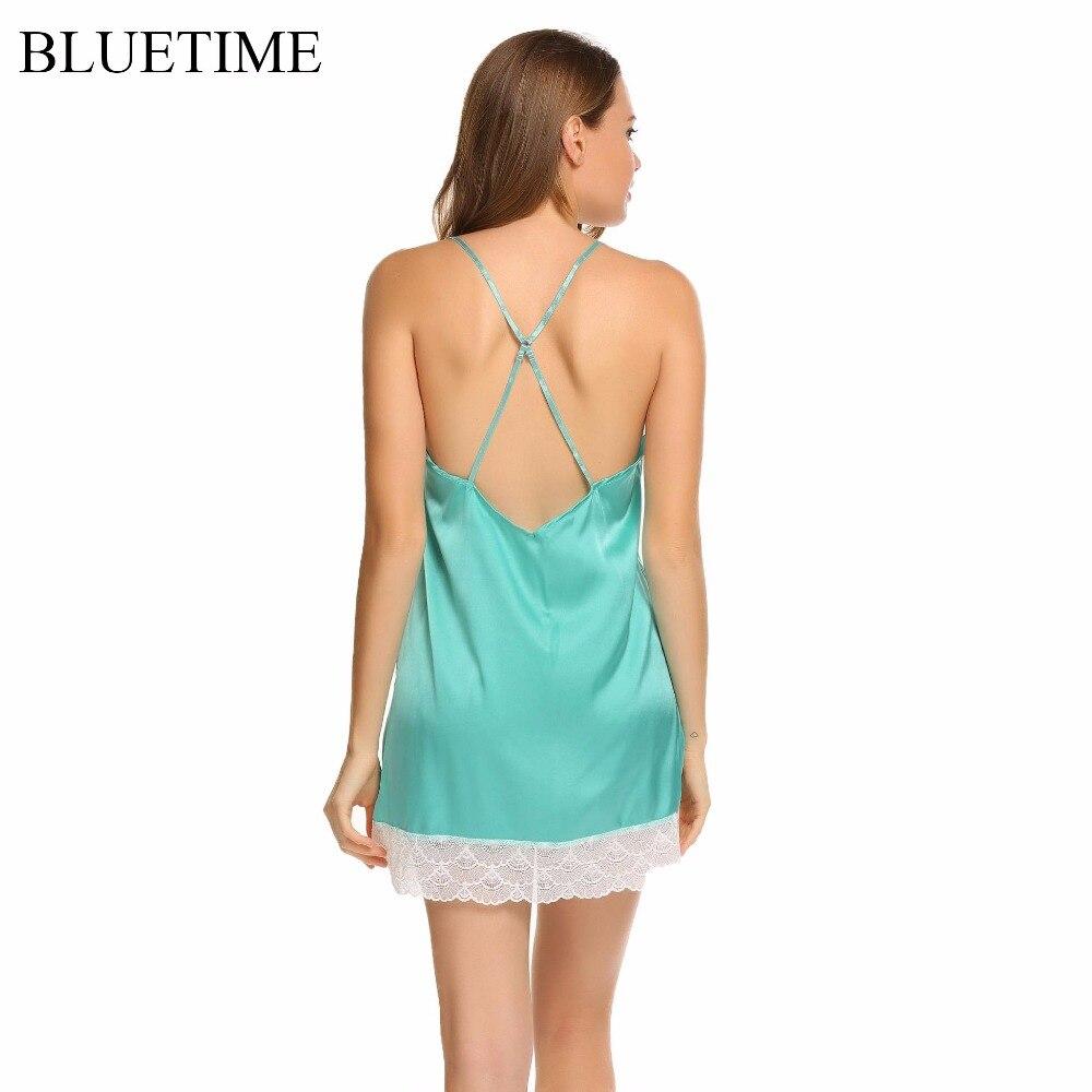 Female Satin Nightgown Lace Big Size Nightwear Sleepwear Sexy Nightdress Night Shirt Dress Women Nighties Chemise Lady Clothing
