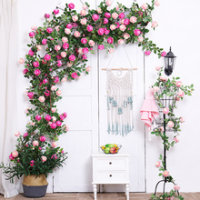 artificial flowers Garland vine decoration silk peony flower String Hanging Rattan Home Wedding decor Wreath  Vine