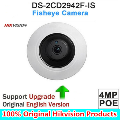 DHL Free shipping English version DS-2CD2942F-IS 4MP Compact Fisheye Network ip security Camera with Fisheye & PTZ view dhl free shipping english version ds 7108ni e1 v w embedded mini wifi nvr poe 8ch for up to 6mp network ip camera