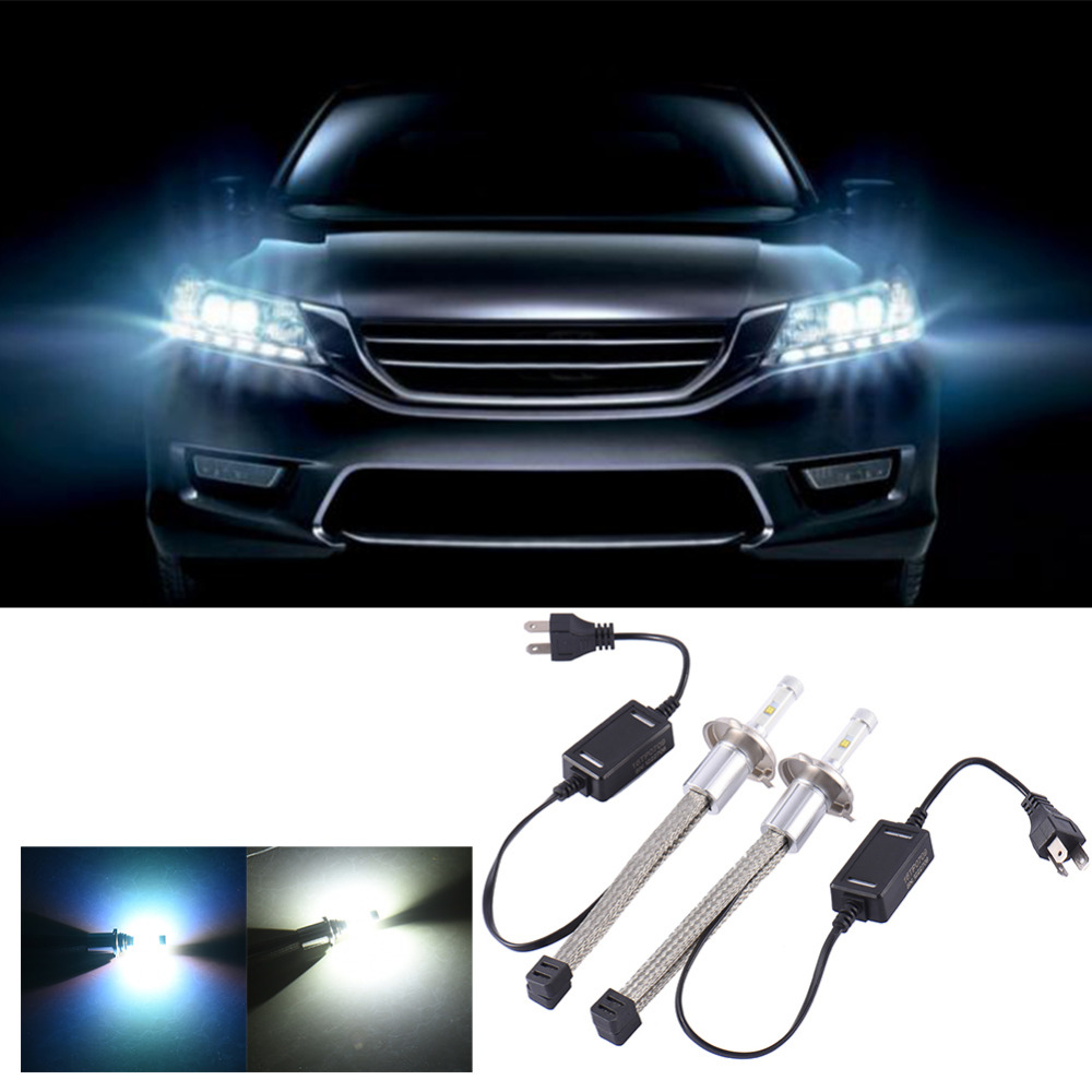 Durable 2Pcs/set 30W LED Aluminum car Headlight Waterproof White Light Headlamp H4 Interface Car Headlight Bulb 12V-24V 3600LM 2pcs h4 30w 3000lm warm white light car head light