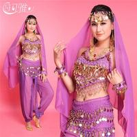6 Colors Belly Dance Costume Set Women Performance Wear Indian Dress Bollywood Costume High Quality Belly