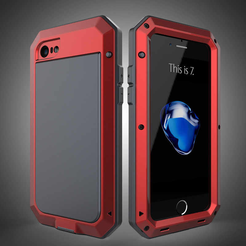 R-Just для iPhone 6 6 S 7 8 Plus X Чехол ТОНКАЯ БРОНЯ металлический алюминиевый чехол для телефона iPhone Xs Max XR 4 5S SE XS противоударный чехол